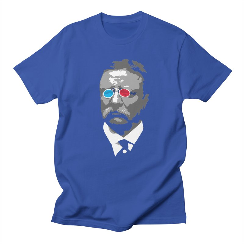 Teddy Roosevelt 3D Men's T-Shirt by Hail to the Tees