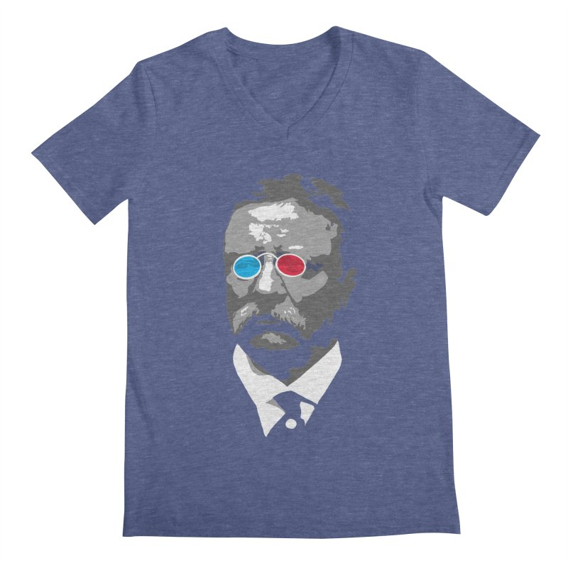 Teddy Roosevelt 3D Men's V-Neck by Hail to the Tees