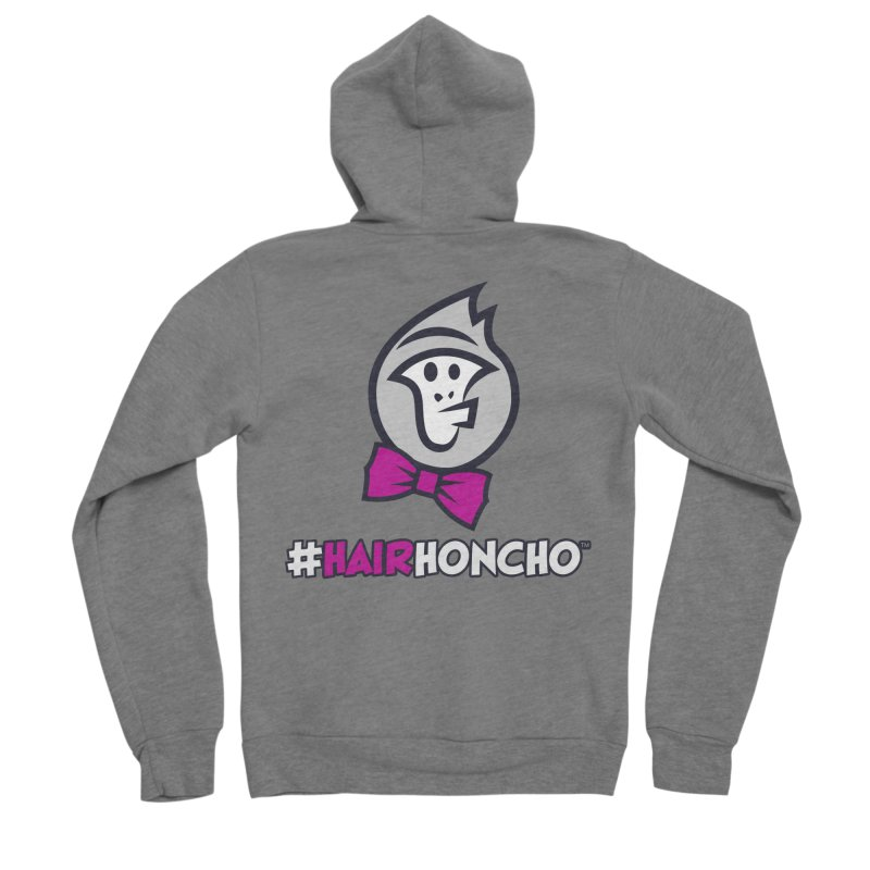 HairHoncho gear Women's Sponge Fleece Zip-Up Hoody by Hairhoncho Gear