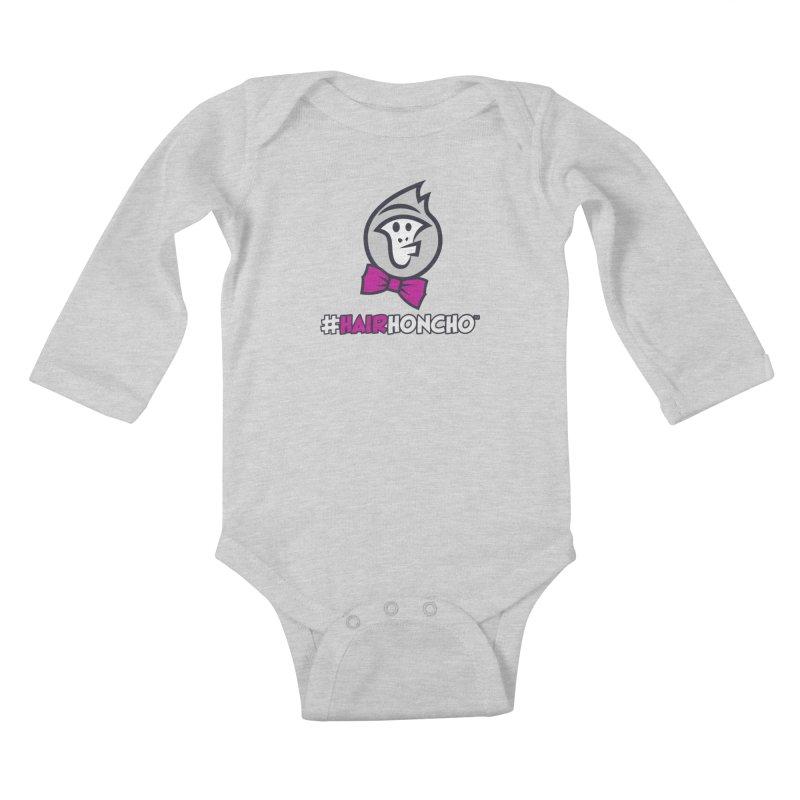 HairHoncho gear Kids Baby Longsleeve Bodysuit by Hairhoncho Gear