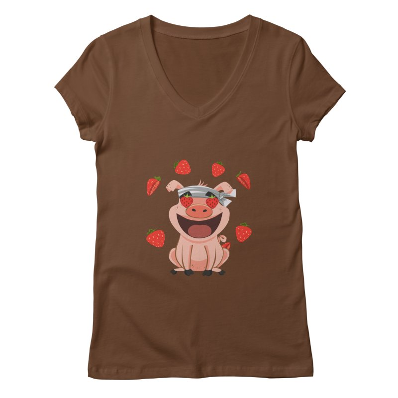 Truffles Love Women's V-Neck by Halfbrick - Official Store