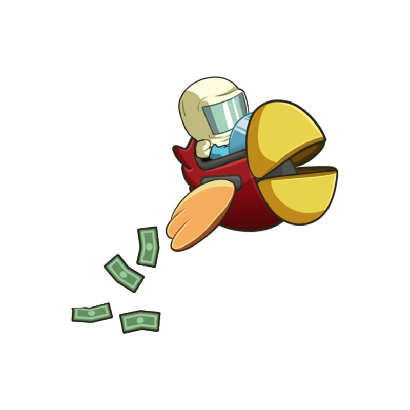 Robot Bird that Shoots Money! Men's Longsleeve T-Shirt by Halfbrick - Official Store