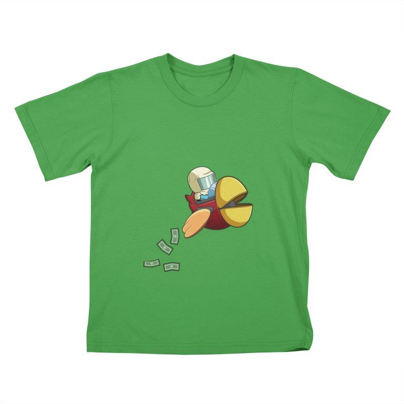 Robot Bird that Shoots Money! Kids T-Shirt by Halfbrick - Official Store