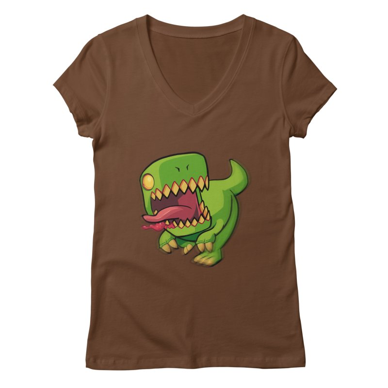 Zombie TREX Women's V-Neck by Halfbrick - Official Store