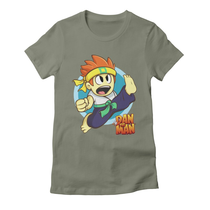 Classic Dan Women's Fitted T-Shirt by Halfbrick - Official Store