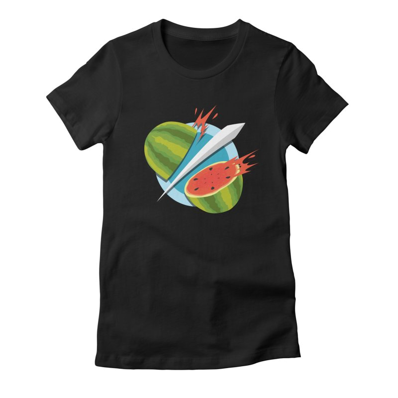 Fruit Ninja Classic Women's Fitted T-Shirt by Halfbrick - Official Store