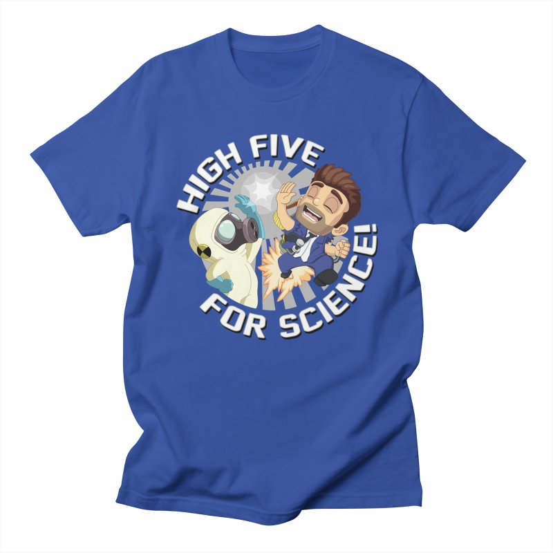 High Five for Science! in Men's Regular T-Shirt Royal Blue by Halfbrick - Official Store