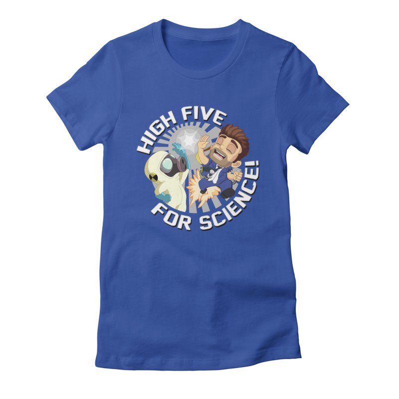 High Five for Science! Women's Fitted T-Shirt by Halfbrick - Official Store