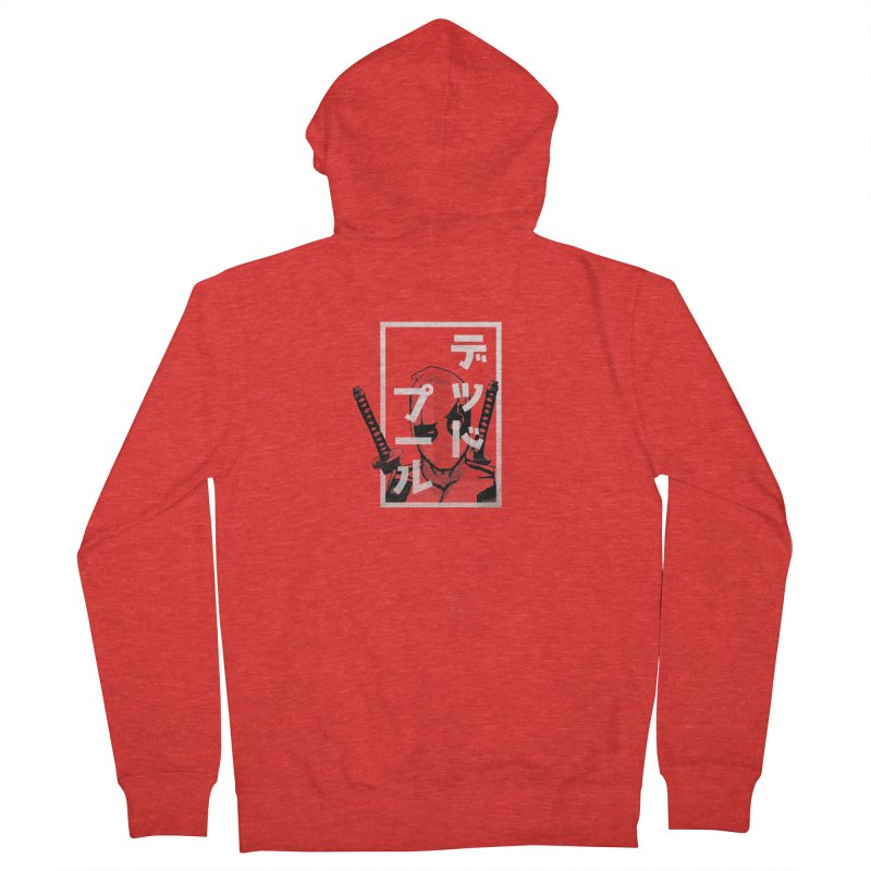 Deadpool - Say what? Men's Zip-Up Hoody by halfcrazy designs