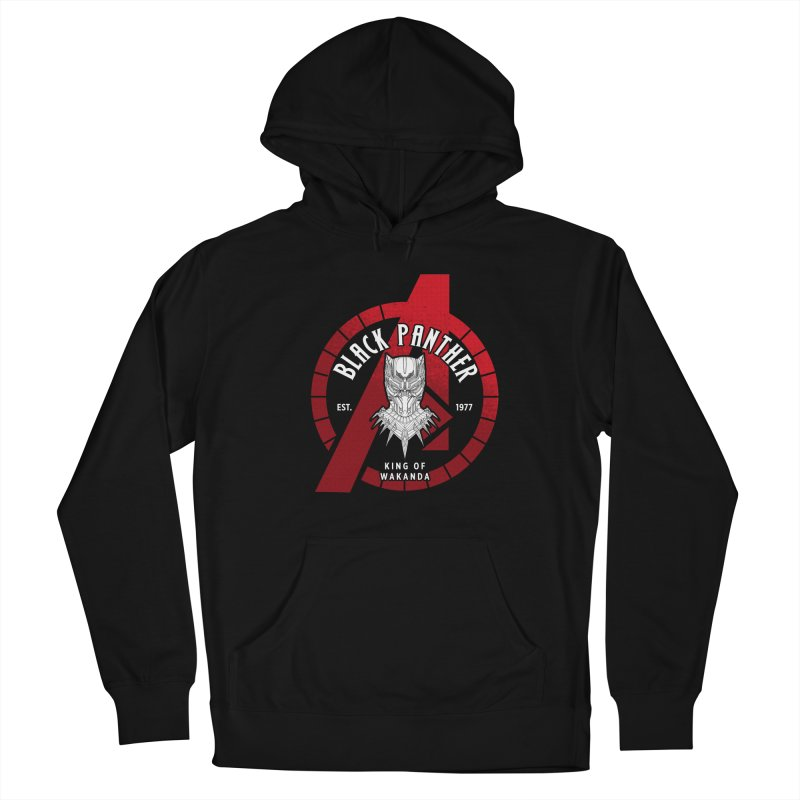 Avengers Assemble: King Of Wakanda Men's Pullover Hoody by halfcrazy designs