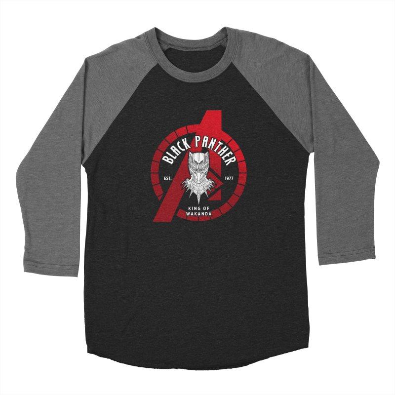 Avengers Assemble: King Of Wakanda Men's Longsleeve T-Shirt by halfcrazy designs