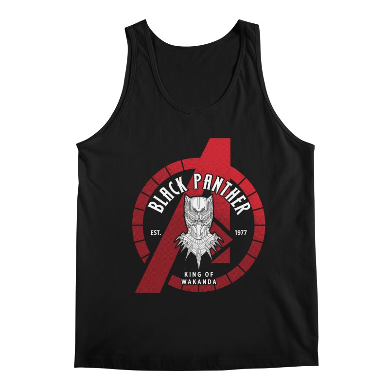 Avengers Assemble: King Of Wakanda Men's Tank by halfcrazy designs