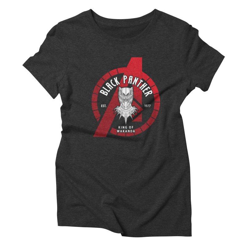 Avengers Assemble: King Of Wakanda Women's T-Shirt by halfcrazy designs