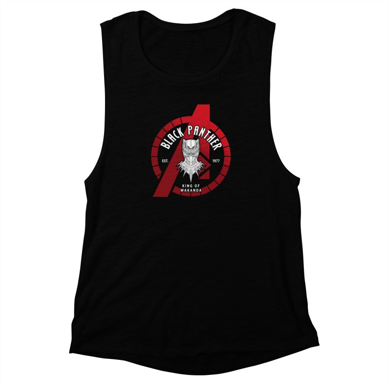 Avengers Assemble: King Of Wakanda Women's Muscle Tank by halfcrazy designs