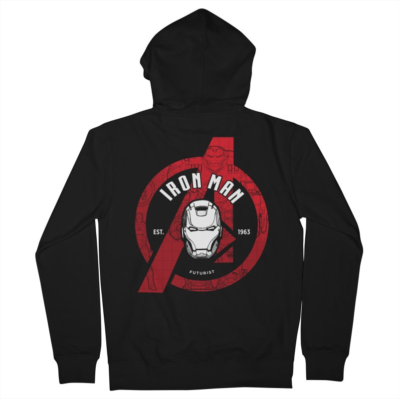 Avengers Assemble: Iron Avengers Men's French Terry Zip-Up Hoody by halfcrazy designs