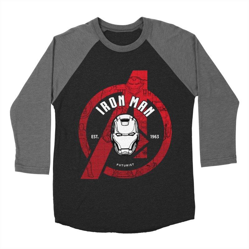 Avengers Assemble: Iron Avengers Men's Baseball Triblend Longsleeve T-Shirt by halfcrazy designs