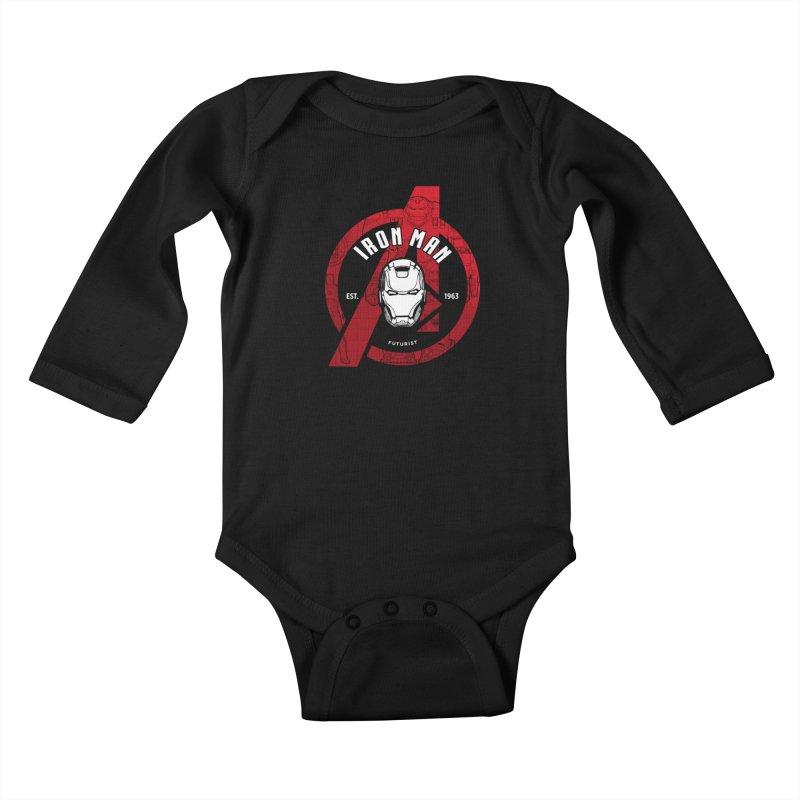 Avengers Assemble: Iron Avengers Kids Baby Longsleeve Bodysuit by halfcrazy designs