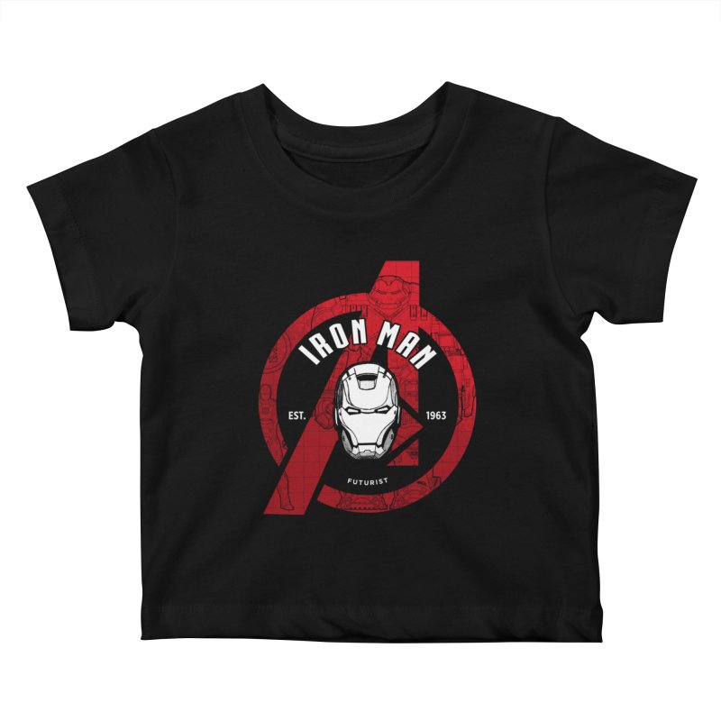 Avengers Assemble: Iron Avengers Kids Baby T-Shirt by halfcrazy designs