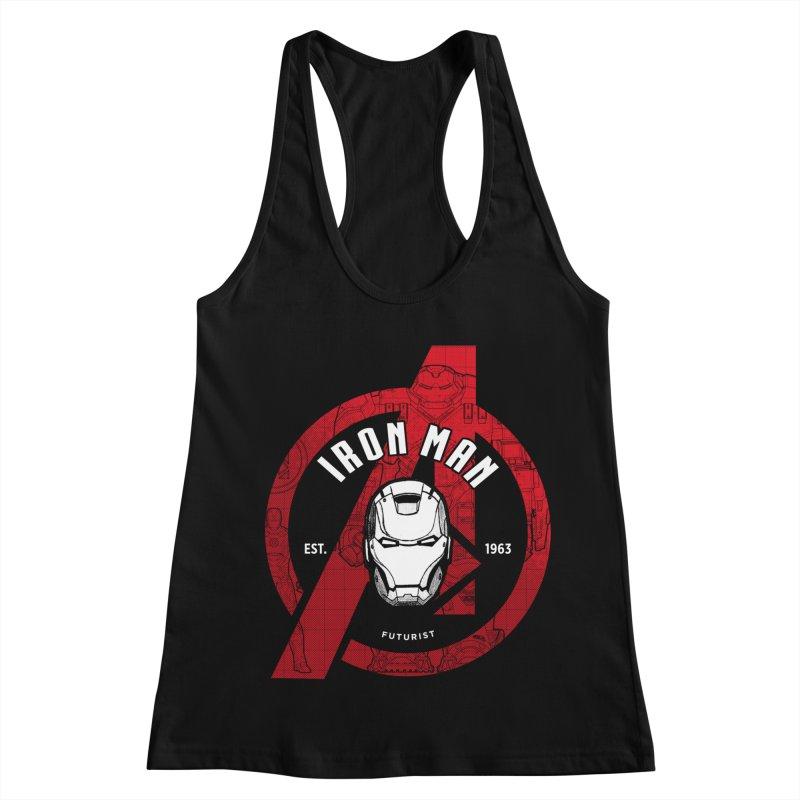 Avengers Assemble: Iron Avengers Women's Racerback Tank by halfcrazy designs