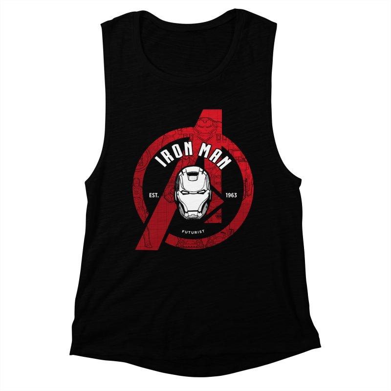 Avengers Assemble: Iron Avengers Women's Muscle Tank by halfcrazy designs