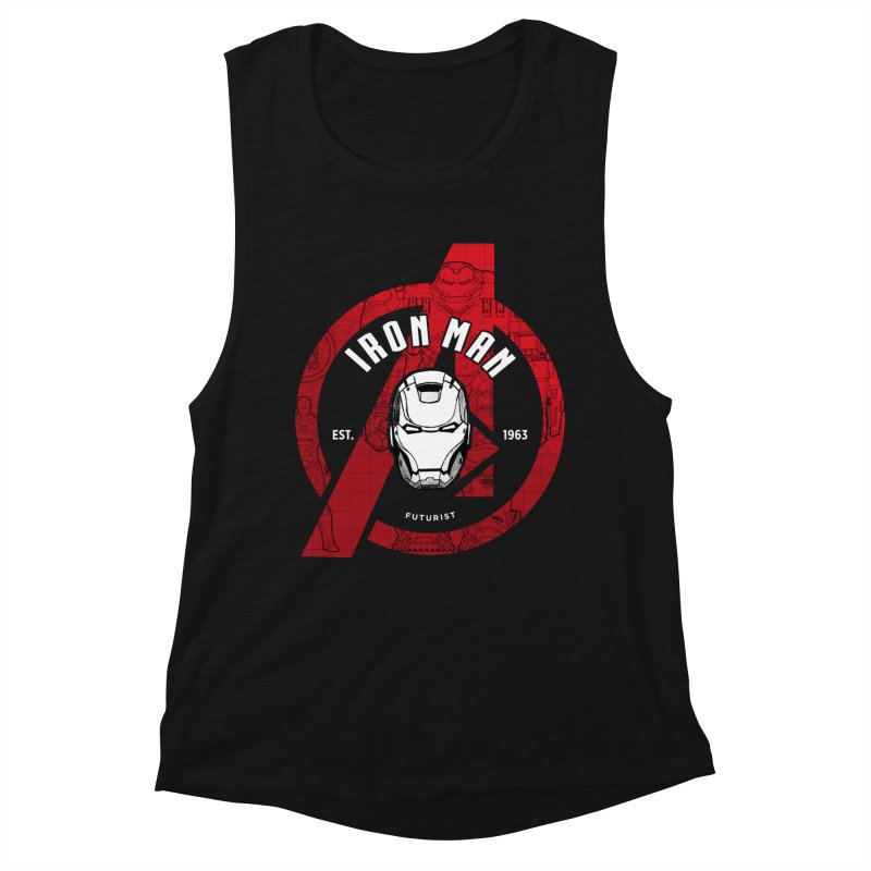 Avengers Assemble: Iron Avengers Women's Muscle Tank by halfcrazy designs