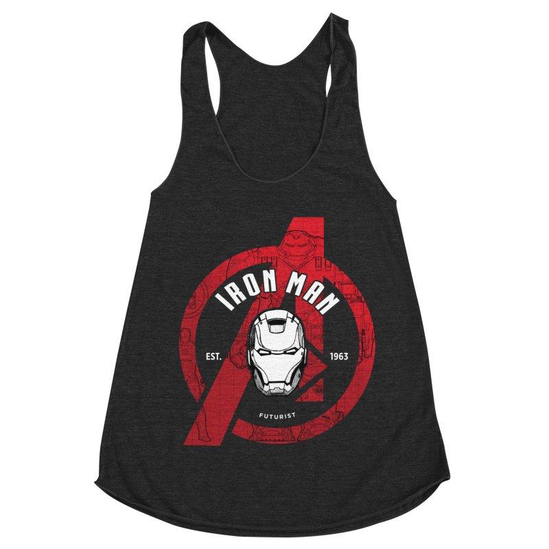 Avengers Assemble: Iron Avengers Women's Racerback Triblend Tank by halfcrazy designs