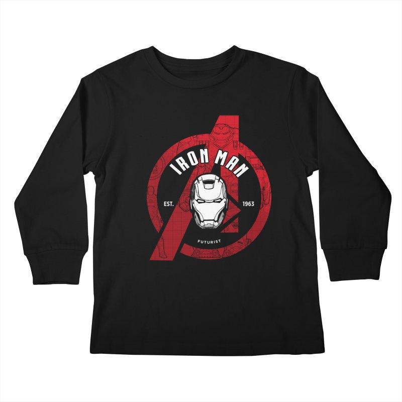 Avengers Assemble: Iron Avengers Kids Longsleeve T-Shirt by halfcrazy designs