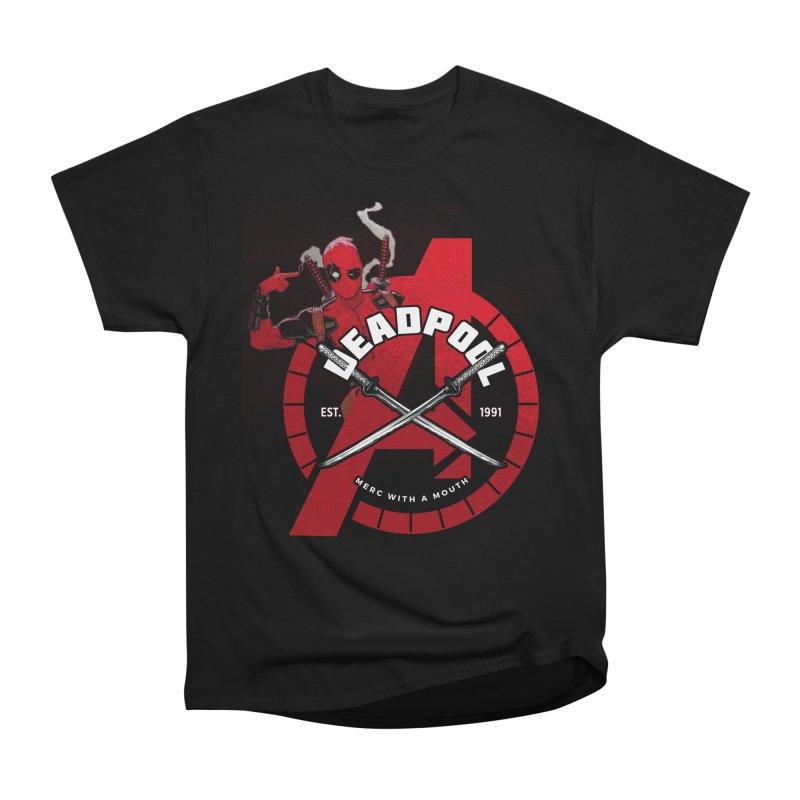 Avengers Assemble: Merc with a mouth Men's T-Shirt by halfcrazy designs
