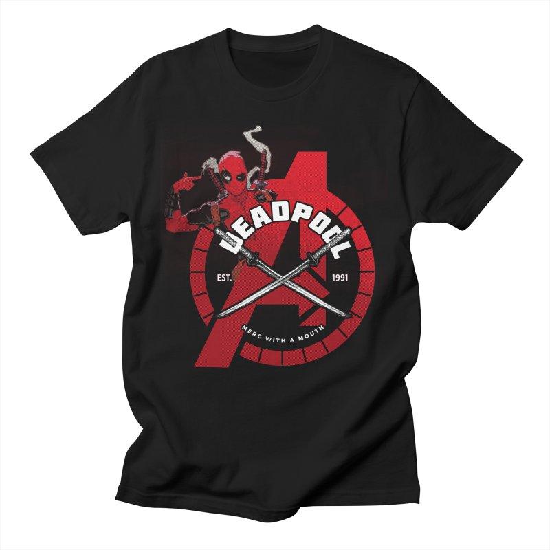 Avengers Assemble: Merc with a mouth Women's T-Shirt by halfcrazy designs
