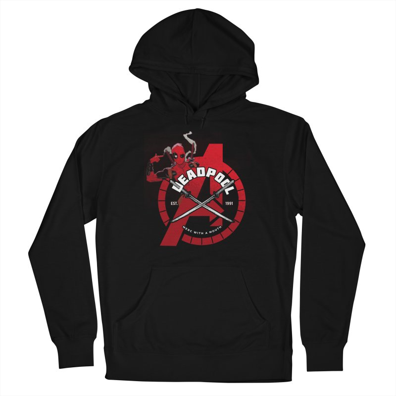 Avengers Assemble: Merc with a mouth Men's Pullover Hoody by halfcrazy designs