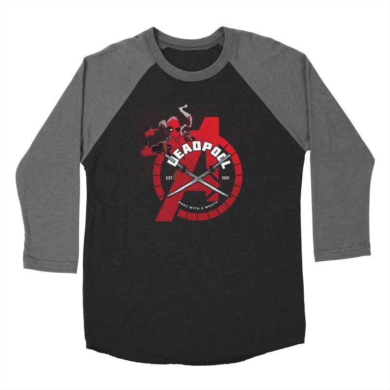 Avengers Assemble: Merc with a mouth Women's Longsleeve T-Shirt by halfcrazy designs