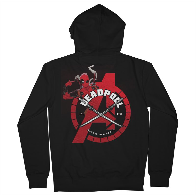 Avengers Assemble: Merc with a mouth Men's Zip-Up Hoody by halfcrazy designs