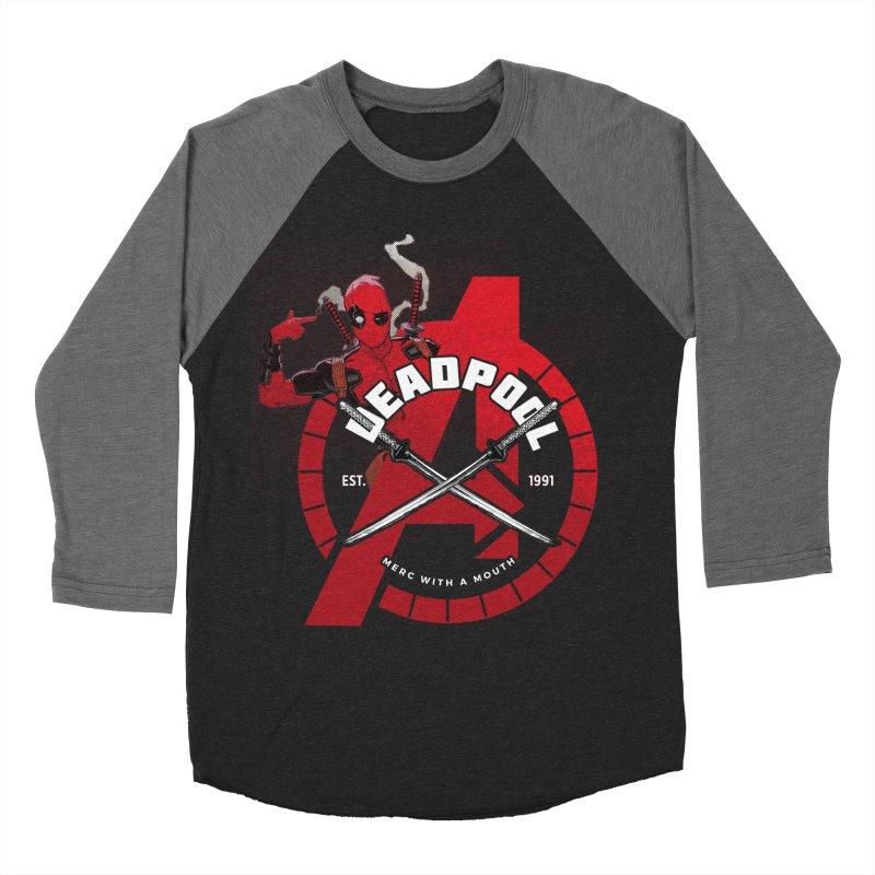 Avengers Assemble: Merc with a mouth Men's Baseball Triblend T-Shirt by halfcrazy designs