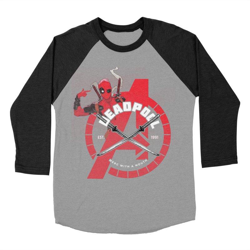 Avengers Assemble: Merc with a mouth Men's Baseball Triblend Longsleeve T-Shirt by halfcrazy designs