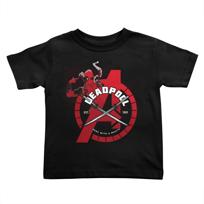 Avengers Assemble: Merc with a mouth Kids Toddler T-Shirt by halfcrazy designs
