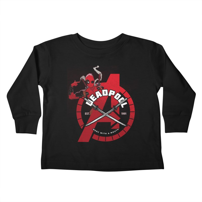 Avengers Assemble: Merc with a mouth Kids Toddler Longsleeve T-Shirt by halfcrazy designs