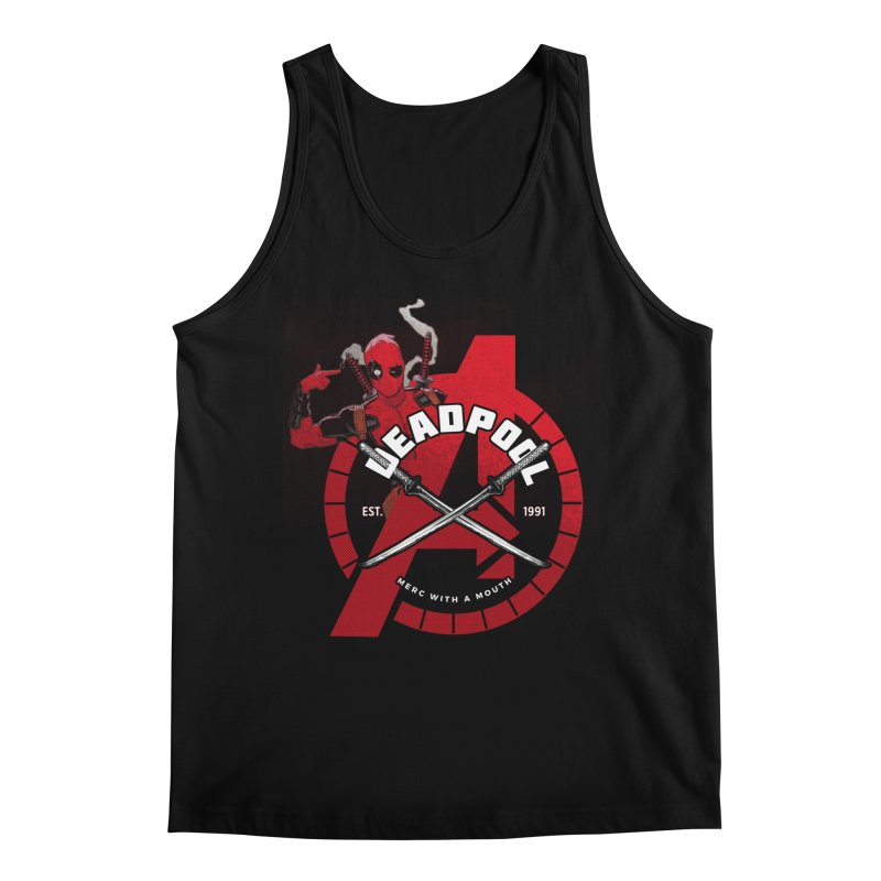 Avengers Assemble: Merc with a mouth Men's Regular Tank by halfcrazy designs