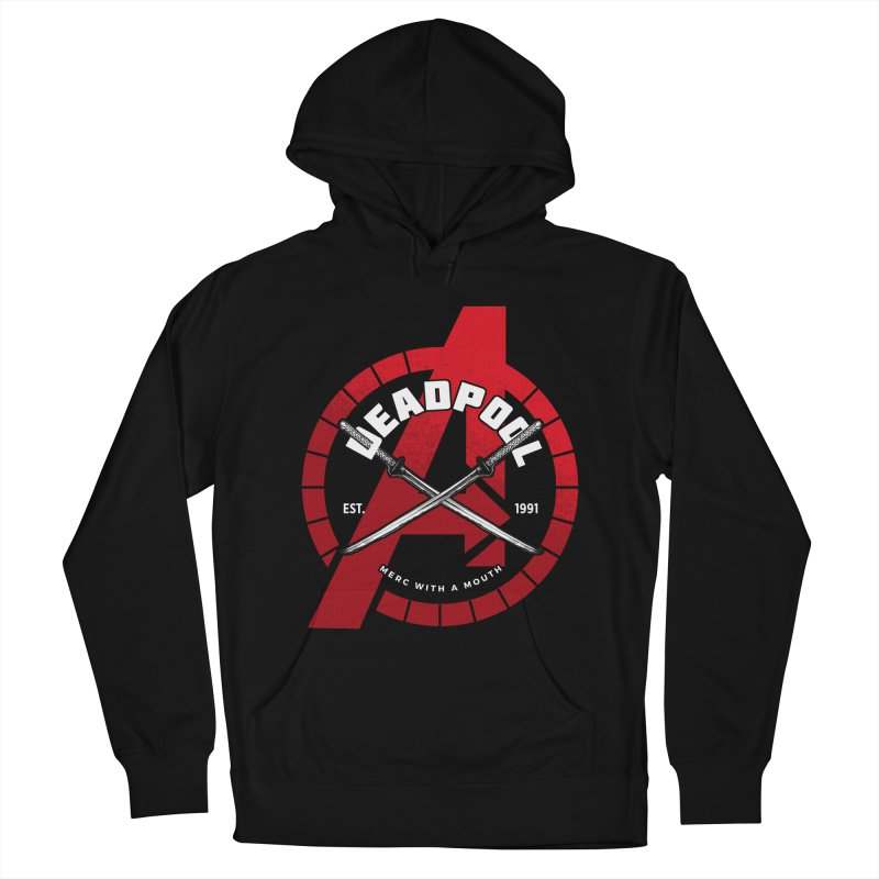 Avengers Assemble: Merc with a mouth Men's French Terry Pullover Hoody by halfcrazy designs