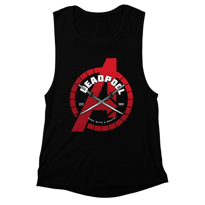 Avengers Assemble: Merc with a mouth Women's Muscle Tank by halfcrazy designs