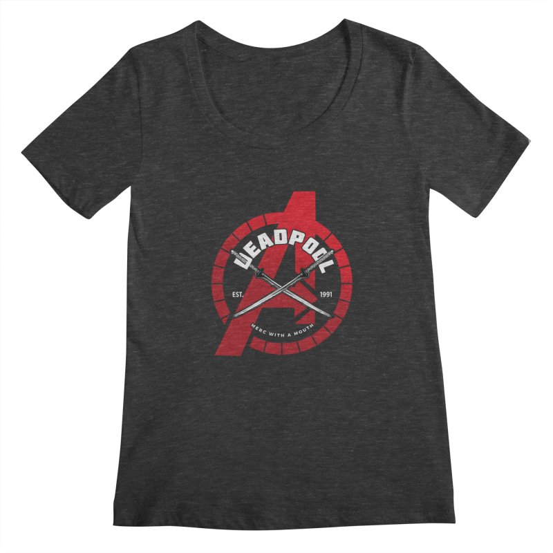Avengers Assemble: Merc with a mouth Women's Regular Scoop Neck by halfcrazy designs
