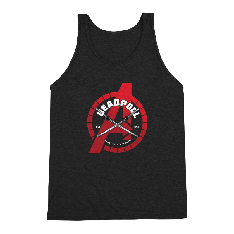 Avengers Assemble: Merc with a mouth Men's Triblend Tank by halfcrazy designs