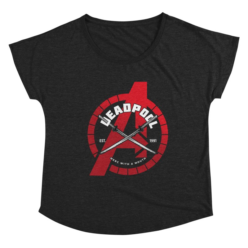 Avengers Assemble: Merc with a mouth Women's Scoop Neck by halfcrazy designs
