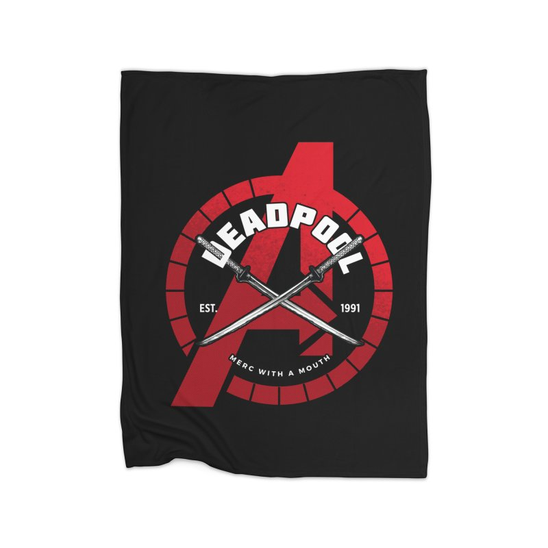 Avengers Assemble: Merc with a mouth Home Blanket by halfcrazy designs