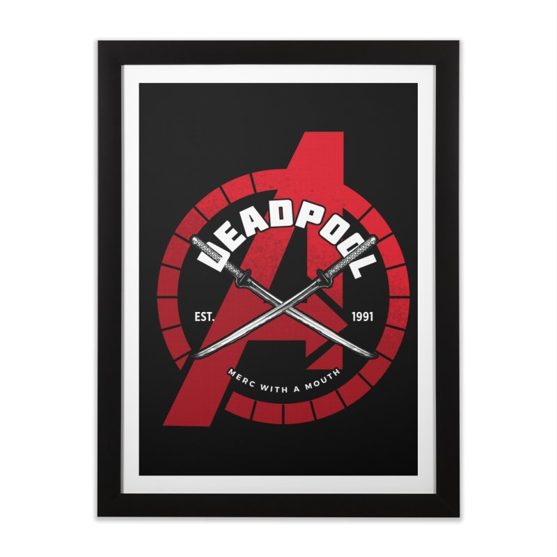 Avengers Assemble: Merc with a mouth Home Framed Fine Art Print by halfcrazy designs