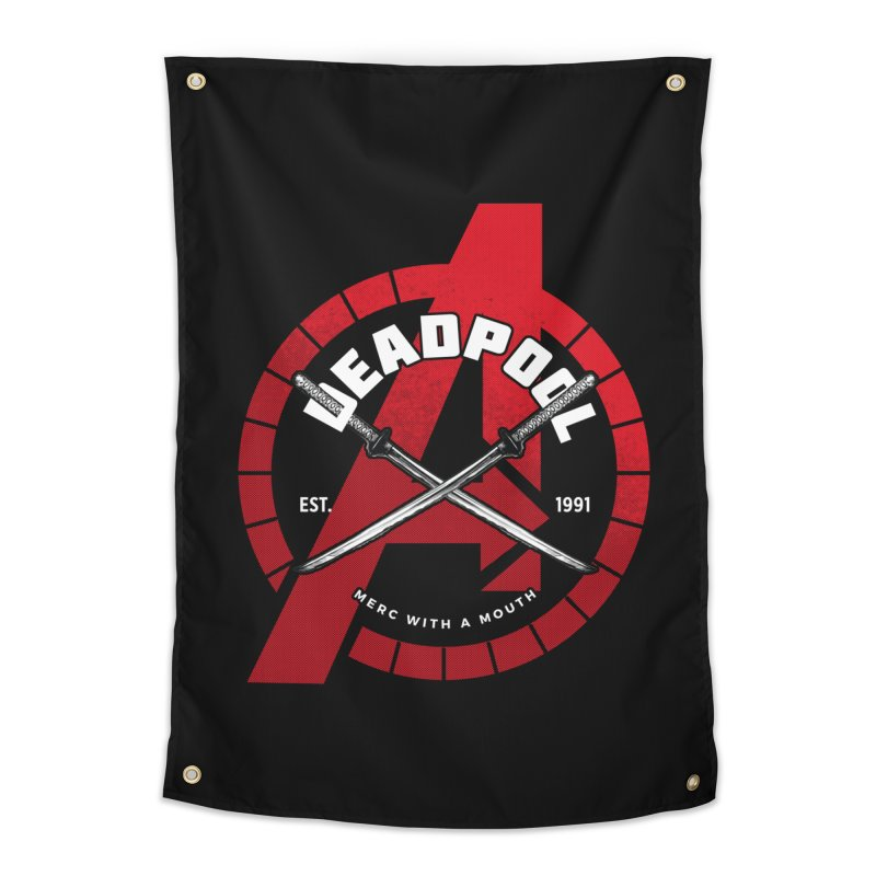 Avengers Assemble: Merc with a mouth Home Tapestry by halfcrazy designs