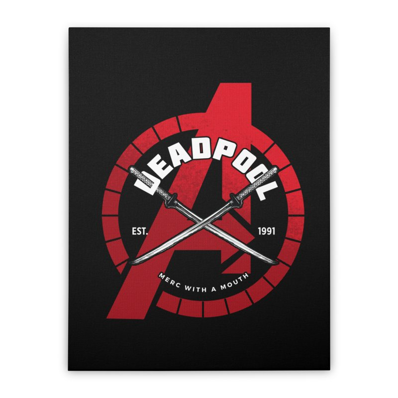 Avengers Assemble: Merc with a mouth Home Stretched Canvas by halfcrazy designs