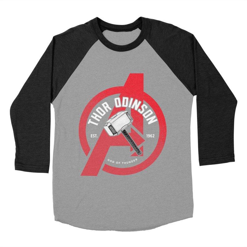 Avengers Assemble: God Of Thunder Men's Longsleeve T-Shirt by halfcrazy designs
