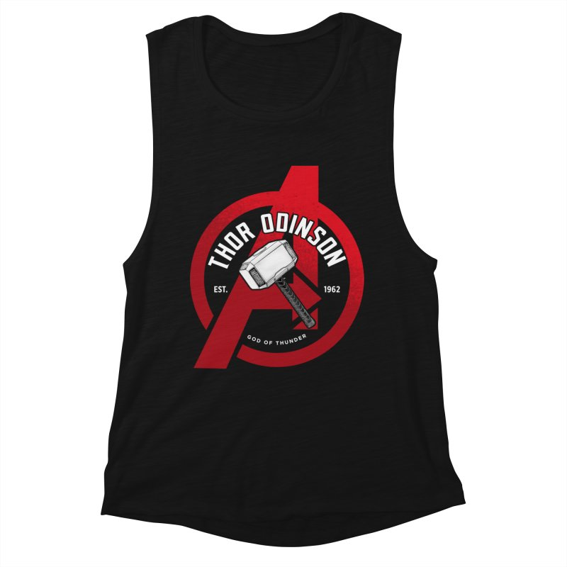 Avengers Assemble: God Of Thunder Women's Muscle Tank by halfcrazy designs