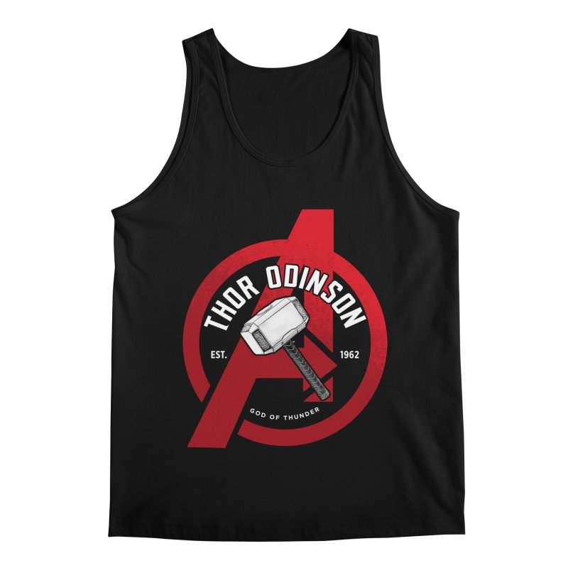 Avengers Assemble: God Of Thunder Men's Regular Tank by halfcrazy designs