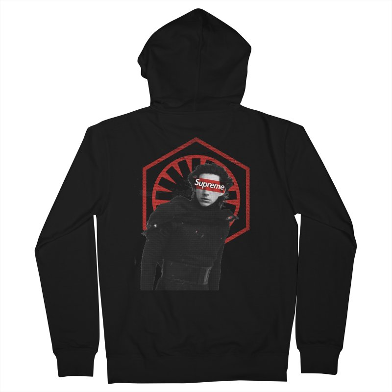 Supreme Leader - Kylo Men's French Terry Zip-Up Hoody by halfcrazy designs